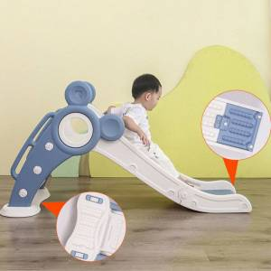 Yoleo (Green ) Kids Indoor Folding Slide Ball Set Playground