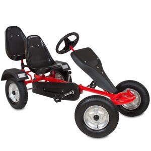 tectake Go kart with 2 seats - go kart for kids, kart, pedal go kart - red