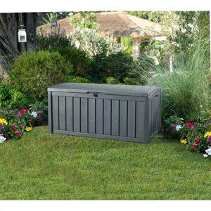 vidaXL Keter Glenwood Outdoor Storage Box Entryway Trunk Chest Ottoman Cabinet Bench