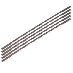 FERM 5 Scroll Saw Blades 25 TPI 127 mm Steel for Wood Metal Plastic SSA1004