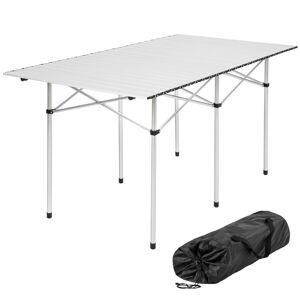 tectake Camping table aluminium 140x70x70cm foldable - folding table, folding ca