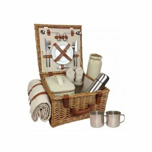 Red Hamper Deluxe Two Person Fitted Picnic Basket