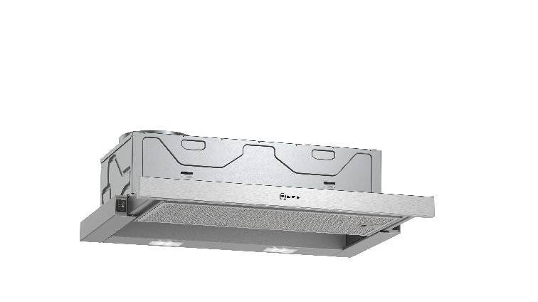 Neff Telescopic Cooker Hood - Silver - B Rated - D46BR22N1B