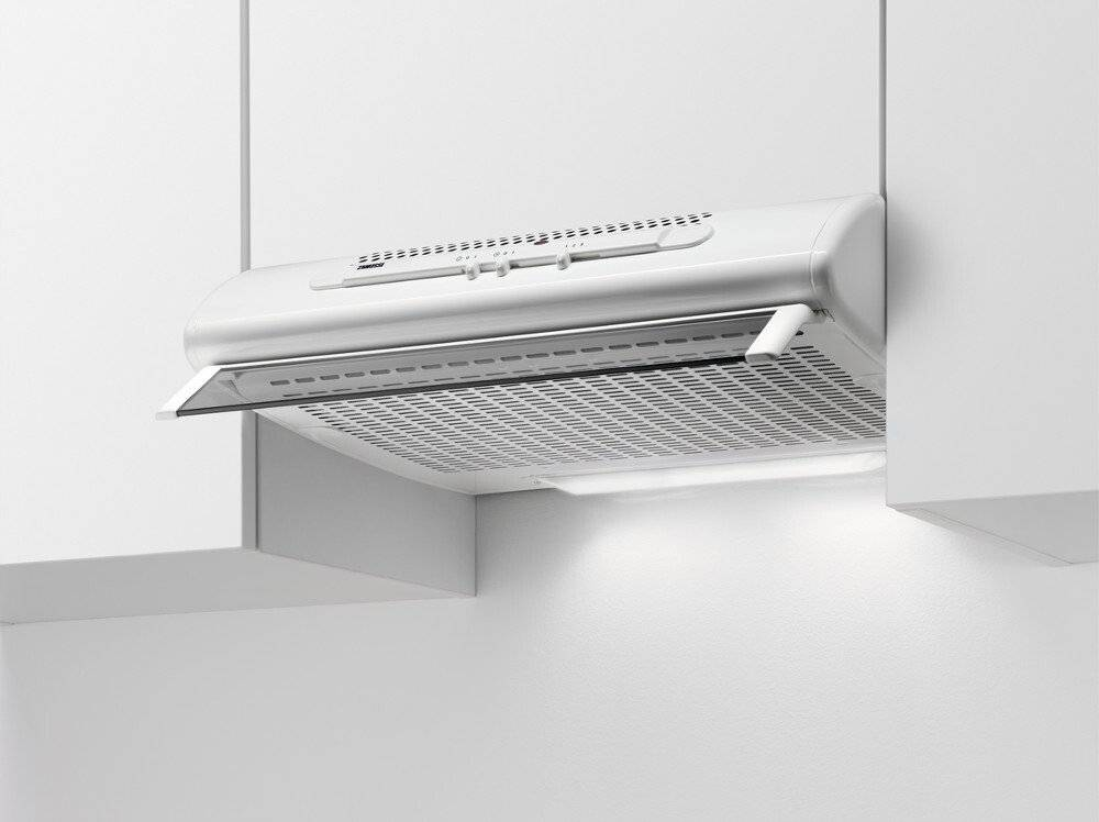 Zanussi Traditional Cooker Hood - White - D Rated - ZHT611W