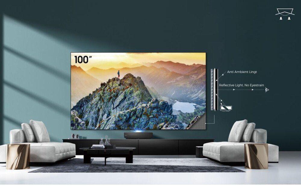 "Hisense 100"" Laser 4K HDR Smart TV with Projector - Black - 100L5FTUK-B12"