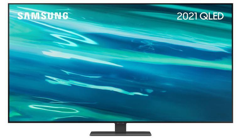 "SAMSUNG Q80A 75"" QLED 4K Quantum HDR Smart TV - Silver - G Rated - QE75Q80AATXXU"