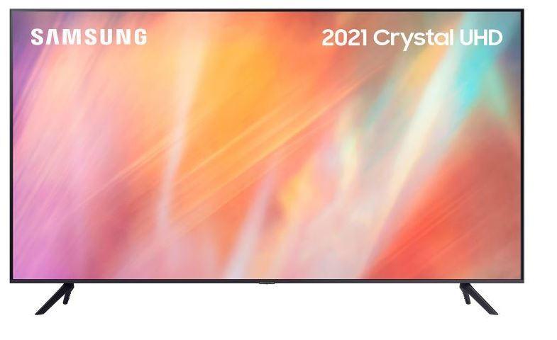 "SAMSUNG AU7100 50"" UHD 4K HDR Smart TV - Grey - G Rated - UE50AU7100KXXU"