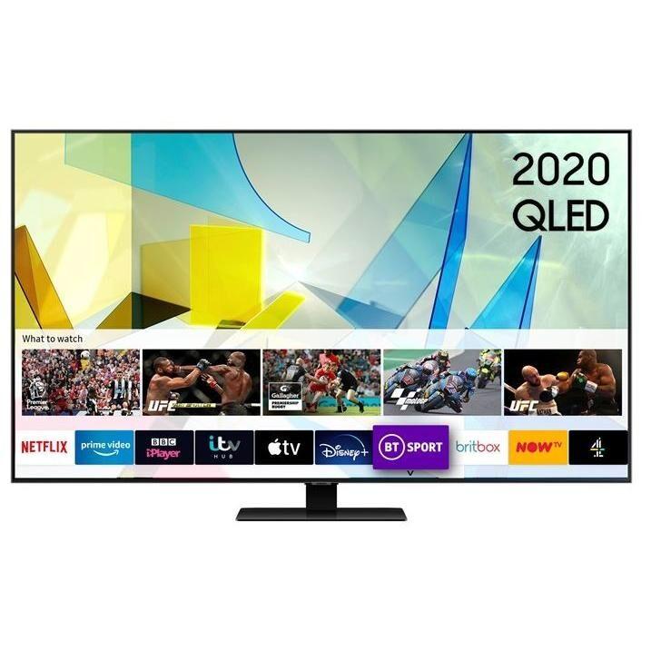 """Samsung QE85Q80TATXXU 85"""" QLED 4K Smart Television - Silver"""
