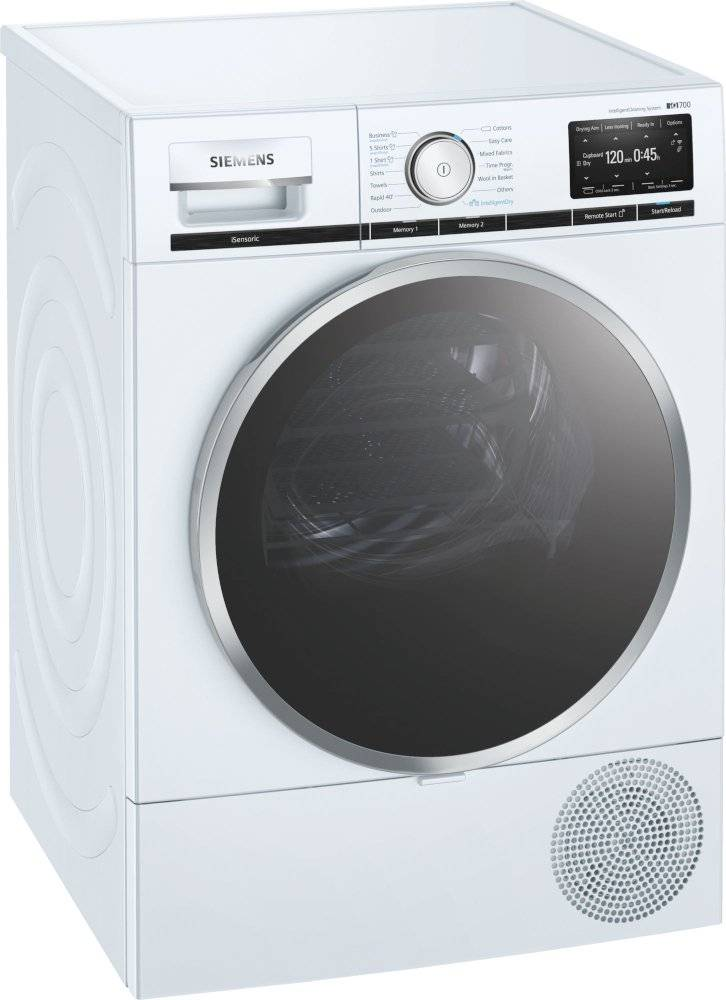 Siemens iQ700 Condenser Dryer with Heat Pump Technology - White - A+++ Rated - WT48XEH9GB