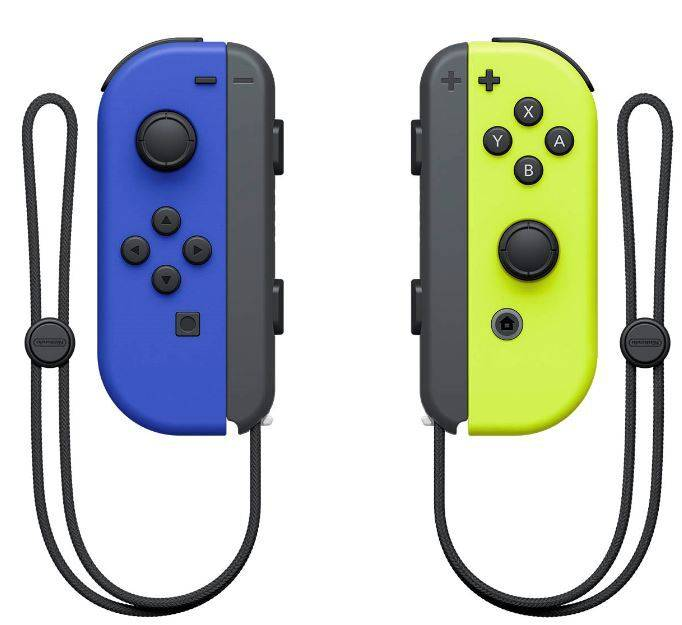 Nintendo Joy Con Pair Blue/Neon Yellow - NSAEBANIN43130