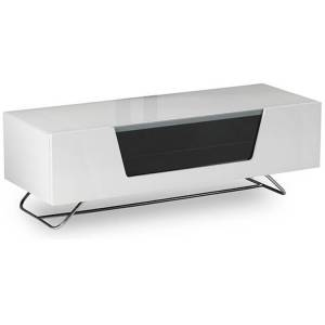 Alphason Design CRO21200CBWHT Chromium 2 Cantilever TV Cabinet - White - CRO2-1200CB-WHT