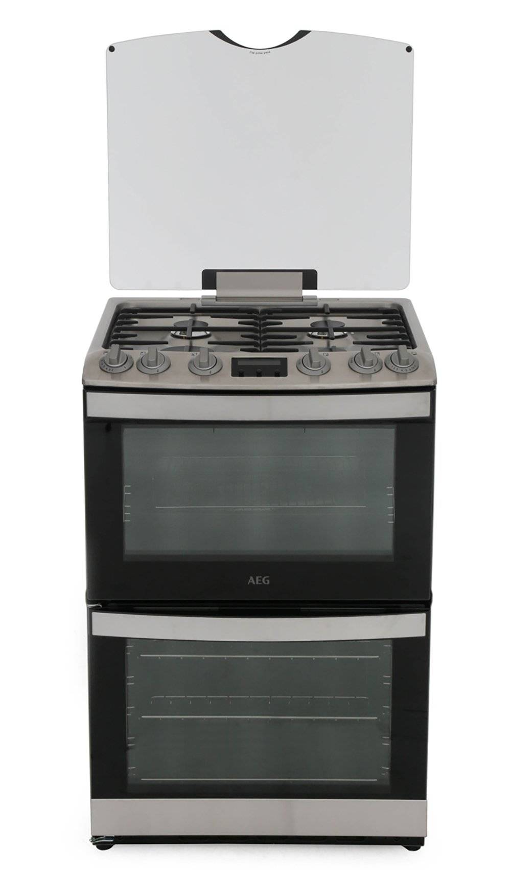 AEG Gas Cooker with Double Oven - Stainless Steel - A Rated - CGB6133CCM