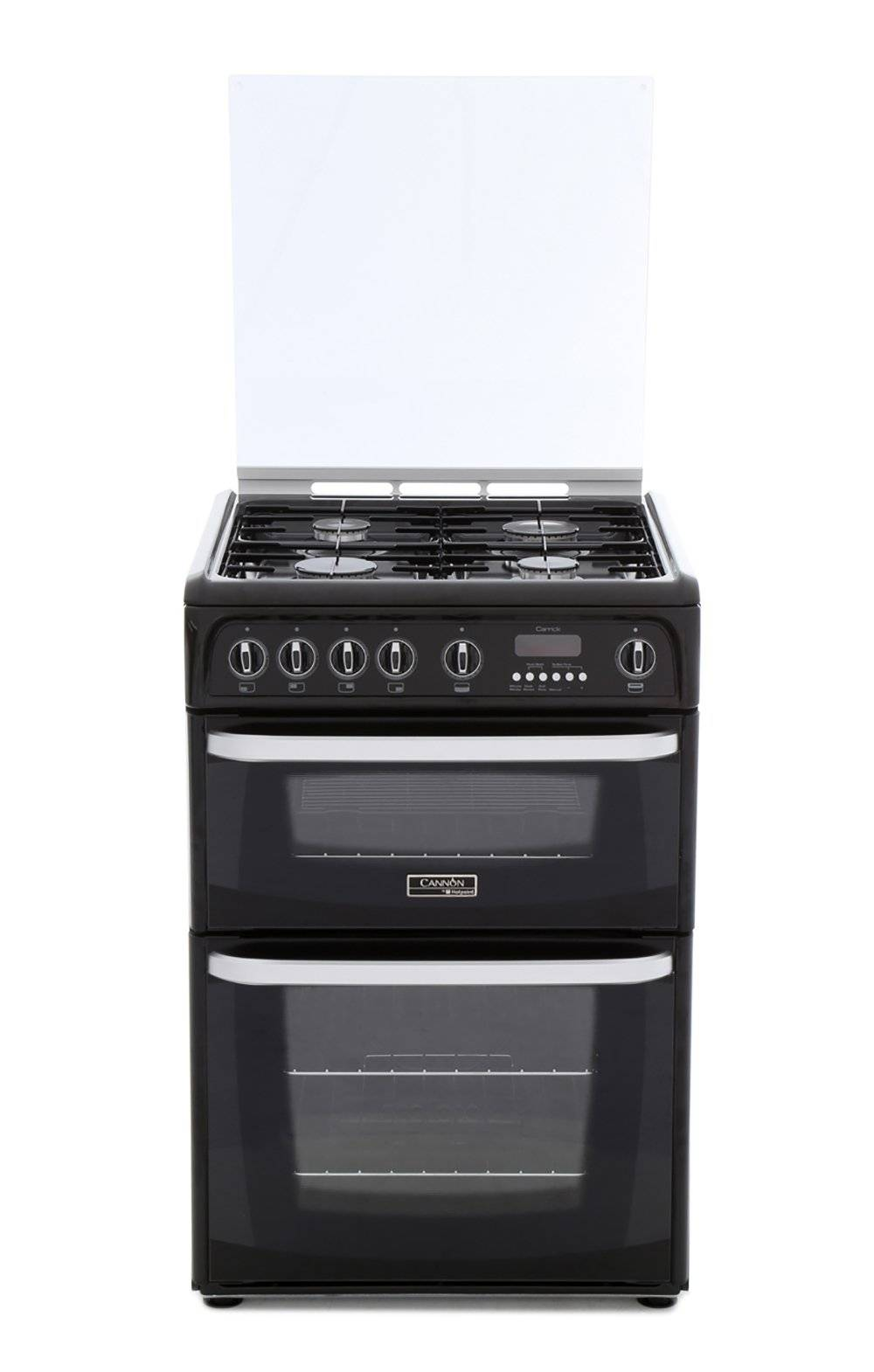 Cannon Gas Cooker with Double Oven - Black - A Rated - CH60GCIK