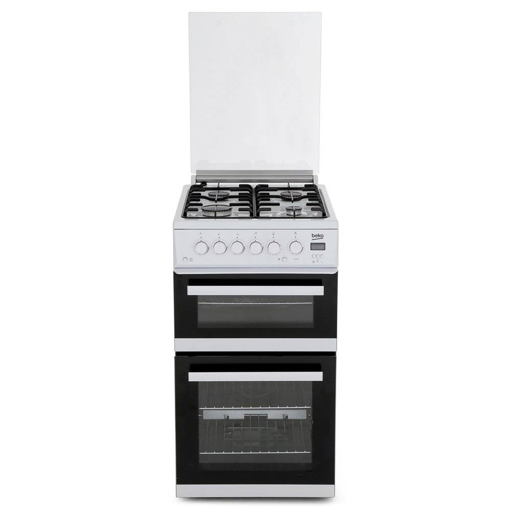 Beko Gas Cooker with Separate Grill - White - A+ Rated - EDG506W