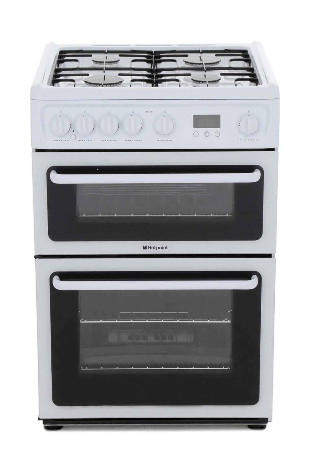 Hotpoint Gas Cooker with Double Oven - White - A Rated - HAG60P