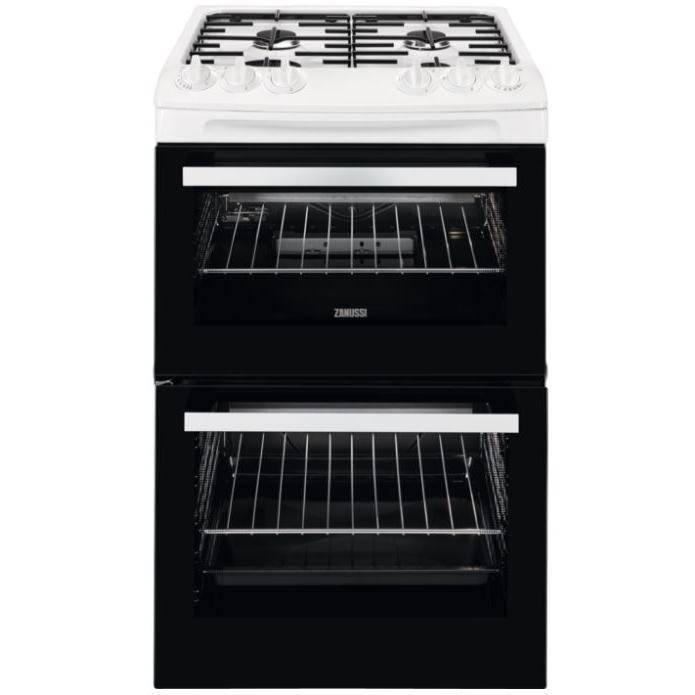 Zanussi Gas Cooker with Double Oven - White - A Rated - ZCG43050WA