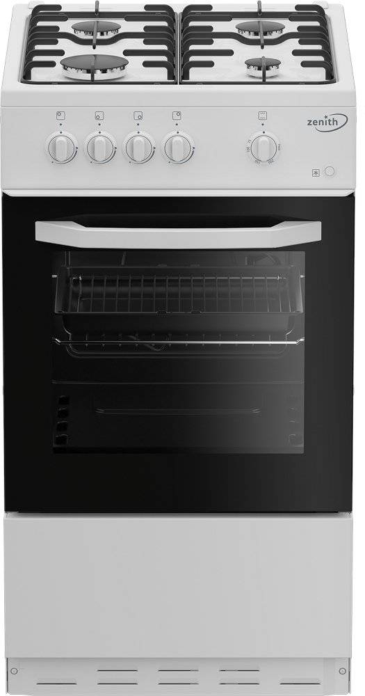 Zenith Gas Cooker with Single Oven - White - A Rated - ZE501W
