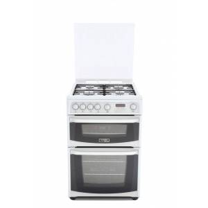 Cannon Carrick CH60GCIW Gas Cooker with Double Oven - White