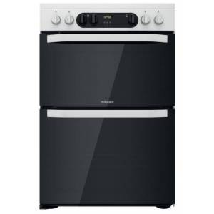 Hotpoint HDM67V9CMW/U Ceramic Electric Cooker with Double Oven - White - A Rated - F159516