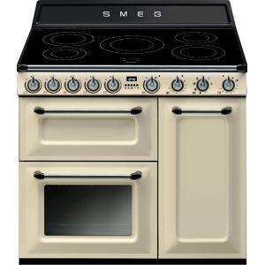 Smeg Victoria TR93IP 90cm Electric Induction Range Cooker - Cream