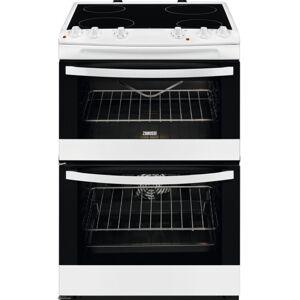 Zanussi ZCV66078WA Ceramic Electric Cooker with Double Oven - White