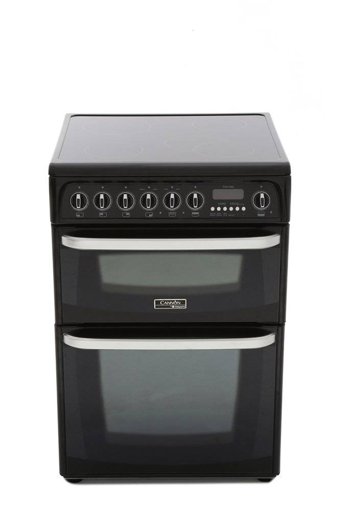 Cannon Kendal CH60EKKS Ceramic Electric Cooker with Double Oven
