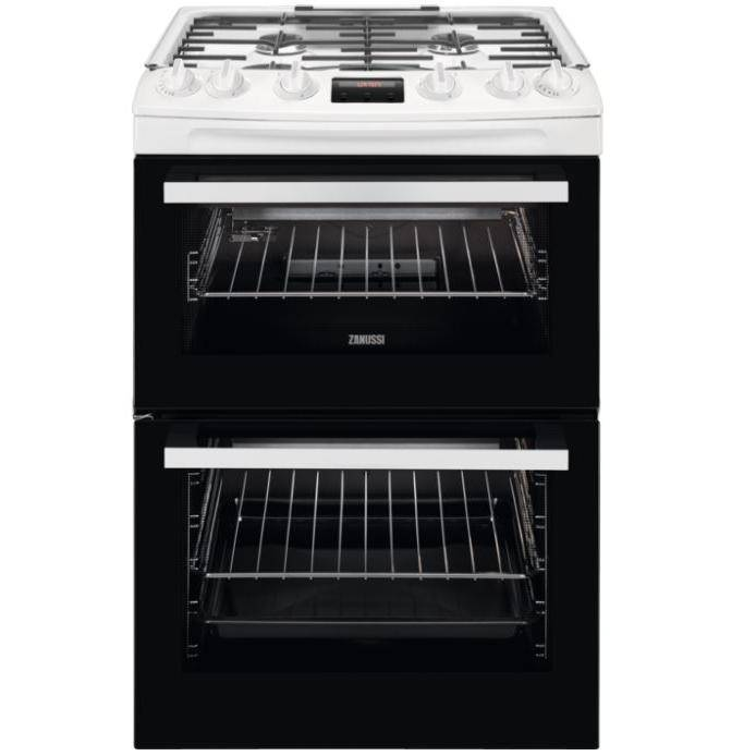 Zanussi ZCG63250WA Gas Cooker with Double Oven - White