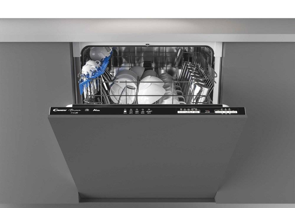 Candy CRIN 1L380PB-80 Built In Fully Integrated Dishwasher - Black