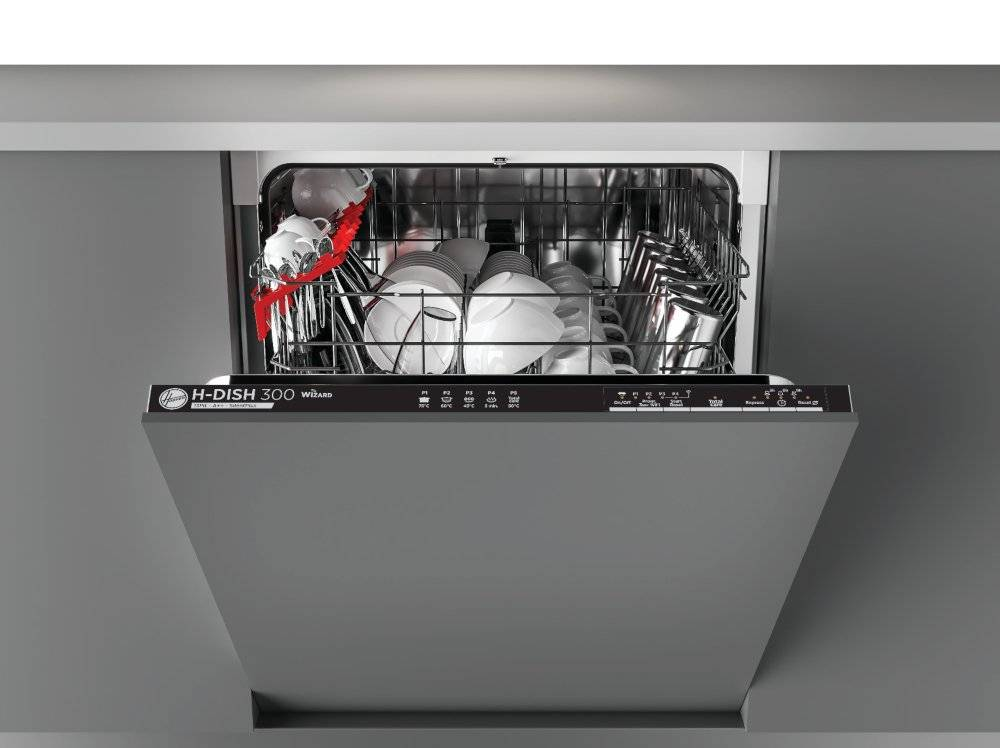 Hoover HRIN 2L360PB-80 Built In Fully Integrated Dishwasher - Black