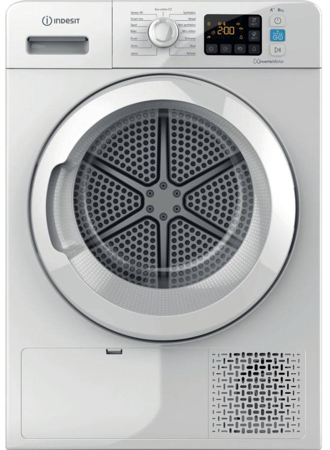 Indesit YT M11 82 X UK Condenser Dryer - White - A++ Rated - YTM1182XUK