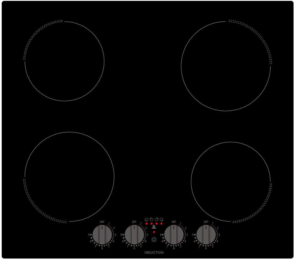 Culina Induction Hob - Black - UBKCIND60PF