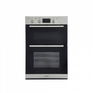 Indesit IDD6340IX Double Built In Electric Oven - Stainless Steel