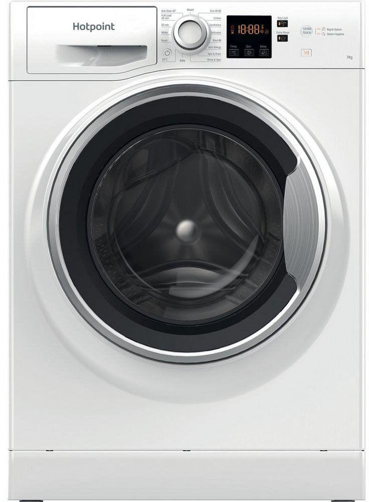 Hotpoint Washing Machine - D Rated - NSWE743UWSUKN
