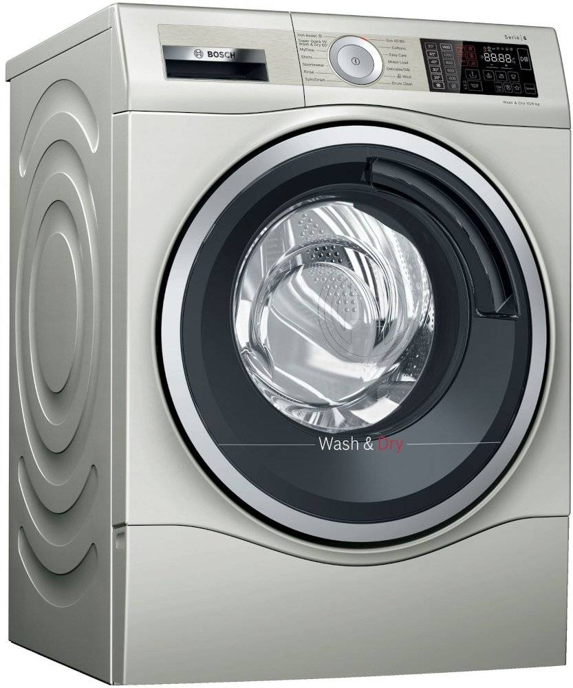 Bosch Serie 6 Washer Dryer - Silver - C Rated - WDU28569GB