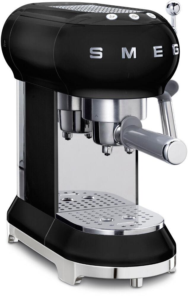 Smeg Retro Espresso Coffee Machine - Black - ECF01BLUK