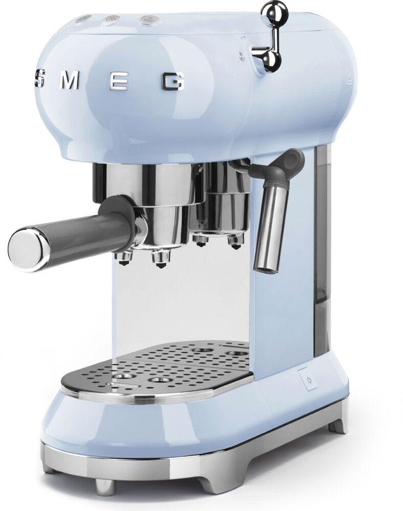 Smeg Retro Espresso Coffee Machine - Blue - ECF01PBUK