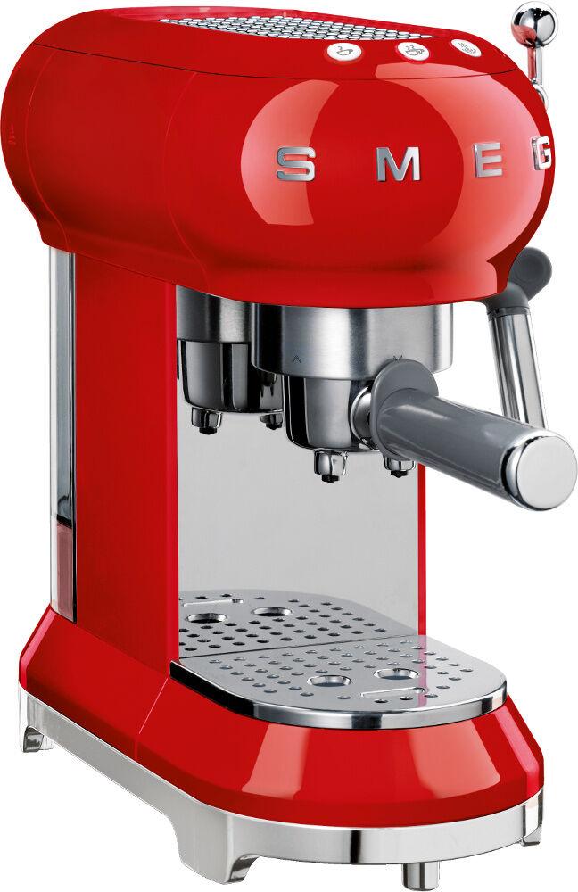 Smeg Retro Espresso Coffee Machine - Red - ECF01RDUK