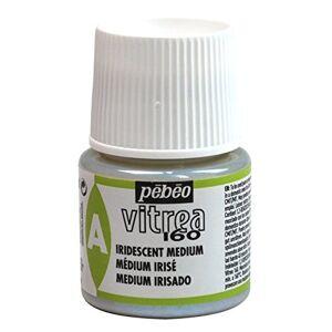 PEBEO 45 ml Vitrea 160-Glass Paint Iridescent Medium Bottle, Transparent