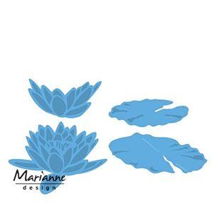 Marianne Design Creatables Tiny's Waterlily L, Metal, Blue, 20 x 9 x 0.5 cm