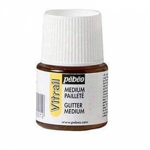 PEBEO 45 ml Vitrail Sparkling Medium Stained Glass Effect Glass Paint, Transparent