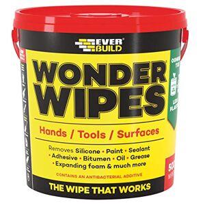 Everbuild MONSTERW Wonder Wipes Multi-Use Cleaning Wipes, Monster 500 Wipes, Multi-colour
