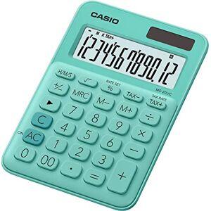 Casio CALCULATRICE DE Bureau MS-20UC-GN, VERT, 2.3 x 10.5 x 14.95 cm