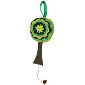 Sd-406 Taftan Crochetted Houses Musicbox (Green Trees)