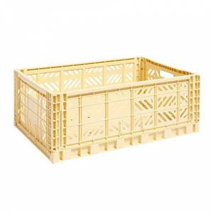 HAY 507682 Polypropylene Transport Box Yellow / Polypropylene Foldable Stackable L x W x H 60 x 40 x 22 cm