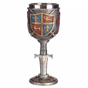 Puckator Collectable Decorative Coat of Arms Goblet, Resin, Multi, Height 19cm Width 7.5cm Depth 8cm