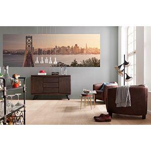 Komar XXL2-055 California Dreaming San Francisco Skyline Wallpaper Wall Mural-(368 x 124 cm), Brown, Grey, Yellow, Red