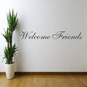 Wall Smart Designs WELCOME FRIENDS Wall Art Sticker Kitchen Quote Decal Mural Stencil Transfer WSD601