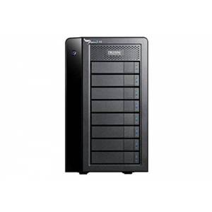 Promise - Pegasus2 R8 32TB (8 x 4TB) Thunderbolt 2 RAID System Fast & Safe Storage System for Multimedia Files Dual Thunderbolt 2 Ports RAID Support Compatible with Mac Time Machine - Black