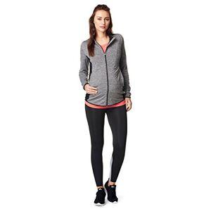 Noppies Women's Jacket Floortje Maternity Sports T - Shirt, Grey Melange, 8 ('s Size: XS)