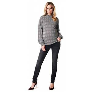 Noppies Women's Pullover Karina Maternity Jumper, Multicolour (Black C270), 10 (Size: S)
